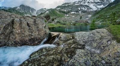 Mässerbach rapids Landschaftspark Binntal, Wallis, Switzerland