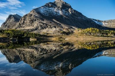 Brachiopod reflections, Baker Lake backcountry camp Skoki Lakes area, Banff photography fotografie Sony A7 Minolta MD 35-70 3.5 macro
